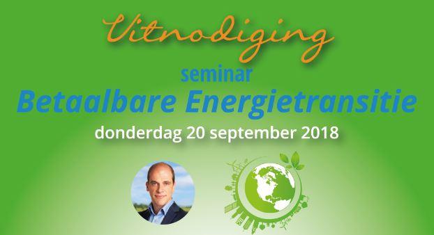 Seminar betaalbare energietransitie